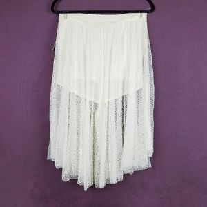 FREE PEOPLE Cream Lacey Culottes Lace Pants 10